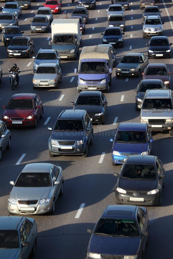 Street traffic. On sunny day stock photos