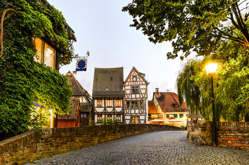 Street in Ulm, Germany. Old street in Ulm, Germany royalty free stock photography