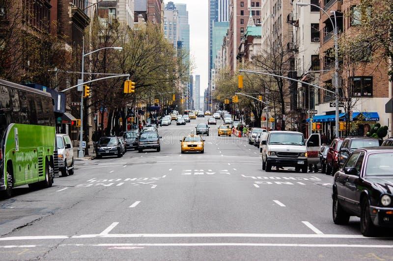 Street of Upper East Side, New York stock photos