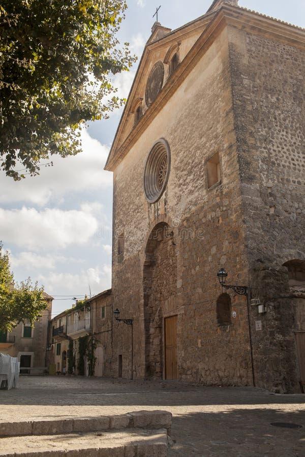 Street in Valldemossa village in Mallorca royalty free stock photos