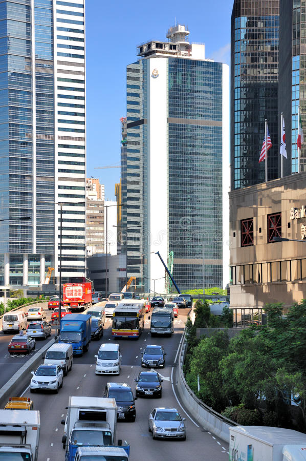 Download Street Vehicle And Buildings Of Hongkong City Editorial Stock Image - Image: 25034784