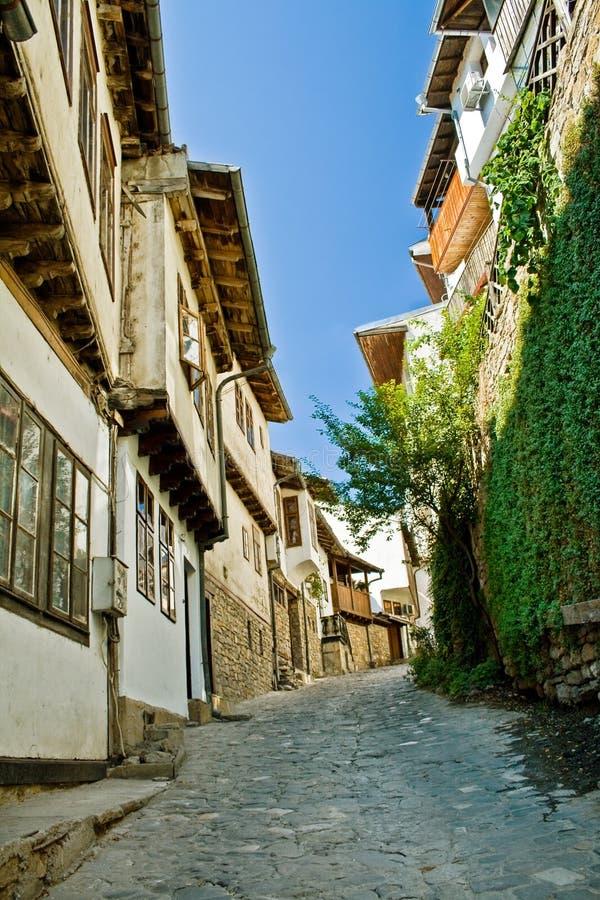 Street in Veliko Tarnovo, Bulgaria royalty free stock image