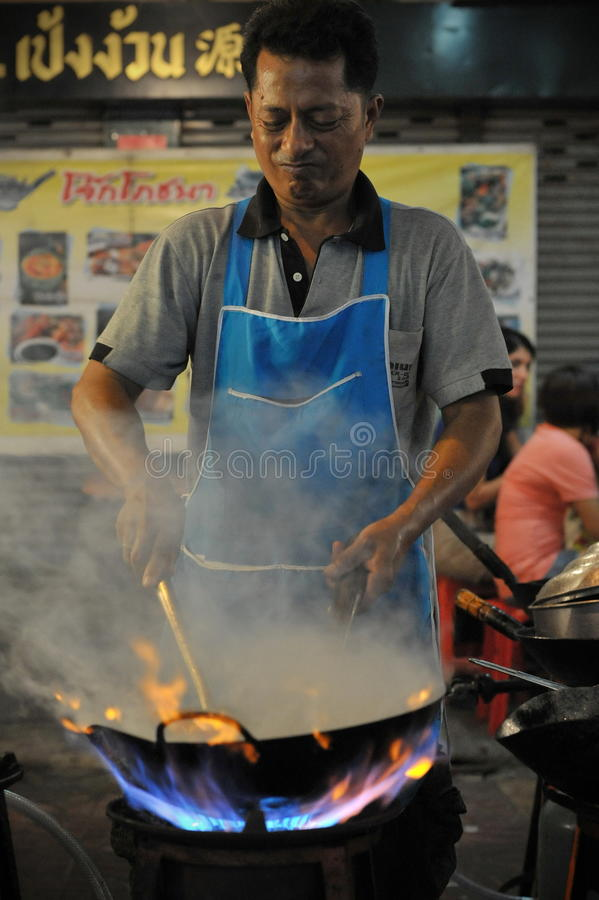 Download Street Vendor in Chinatown editorial stock image. Image of heat - 30718239