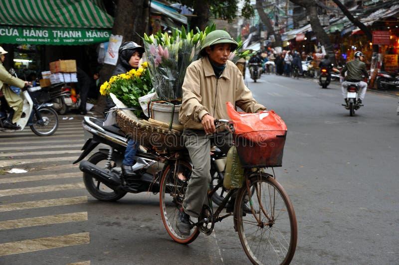 Street vendor in Hanoi, Vietnam stock image