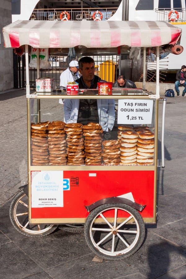 A Street Vendor Sells Food. Item on a street in Istanbul, Turkey stock photos