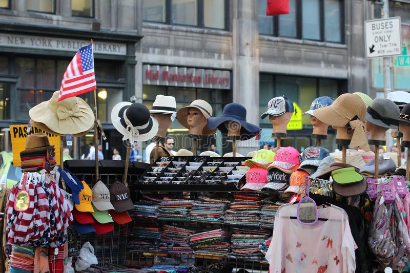 Street Vendor Stand in New York City royalty free stock images