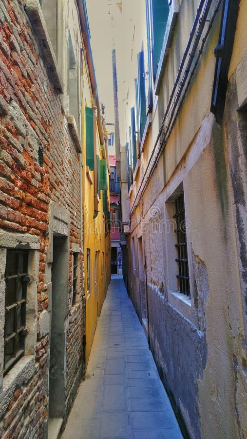 Street in venecia royalty free stock images