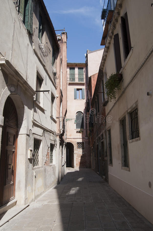 Street in Venice. Old street in Venice in a summer day stock photography