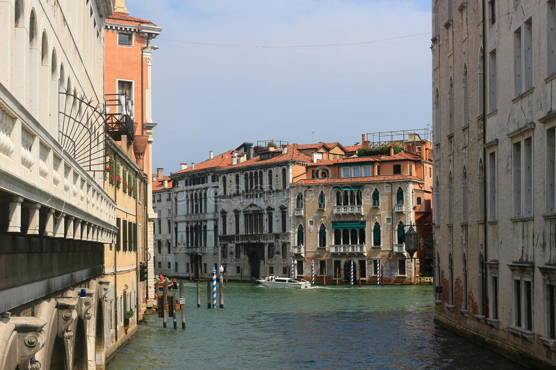 Street in Venice. Beautiful street and channel in Venice, Italy stock images