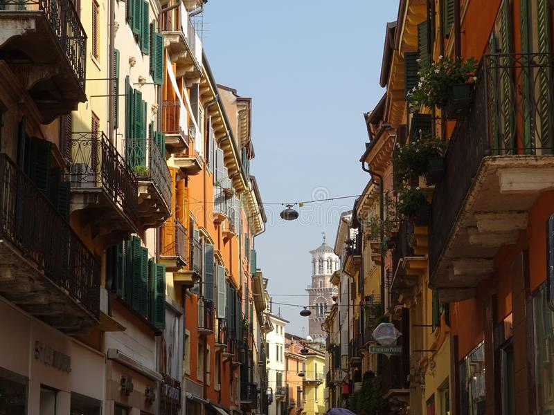 Street in Verona royalty free stock photos