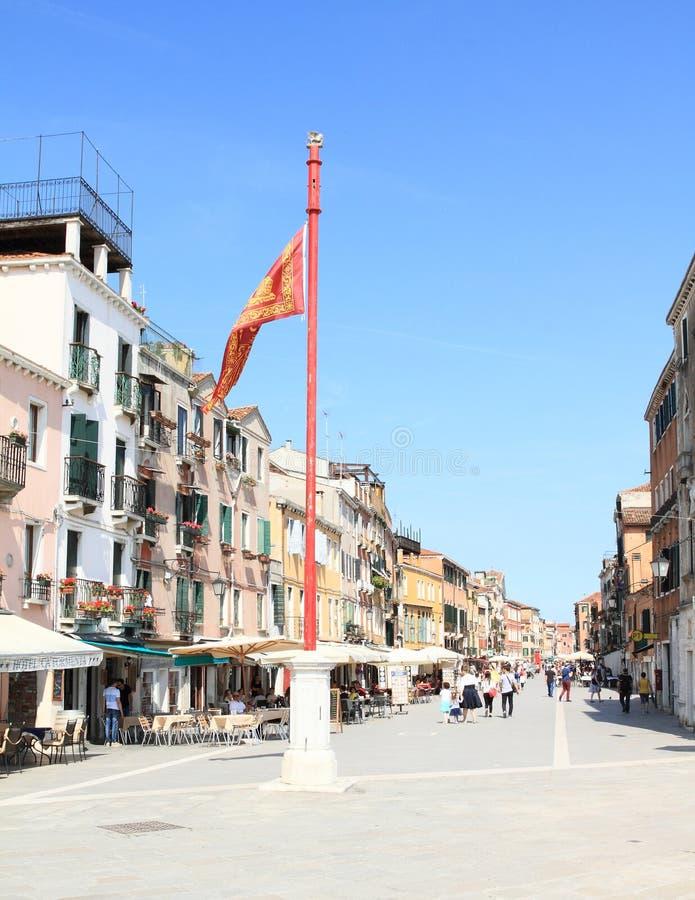 Street Via Giuseppe Garibaldi stock image