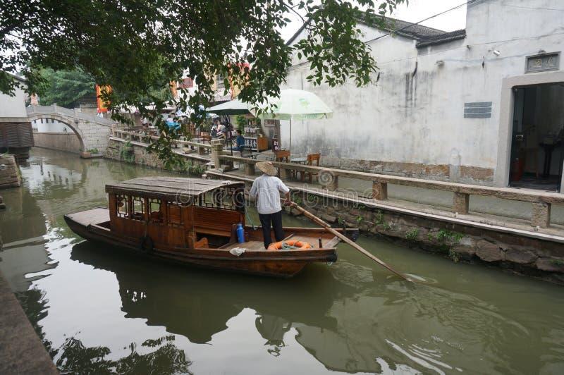Street view, ancient city Suzhou, China stock photography