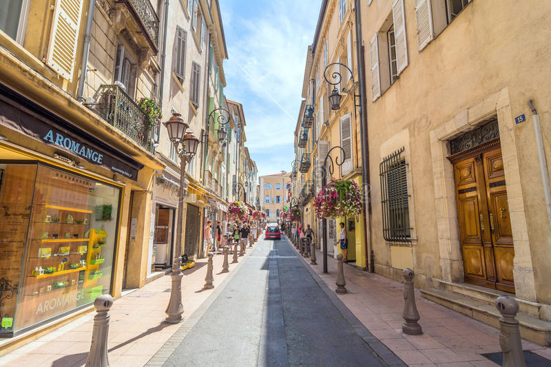 street view in antibes old town france editorial photography image of france shops 88979252. Black Bedroom Furniture Sets. Home Design Ideas