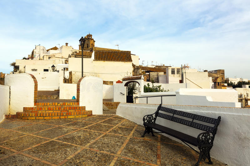 Street view of Arcos de la Frontera. Spain stock photos