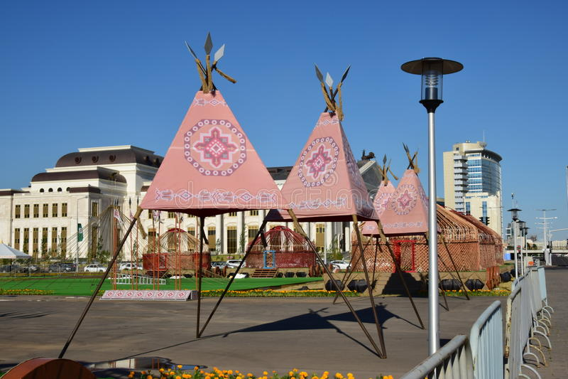 A street view in Astana / Kazakhstan royalty free stock photo