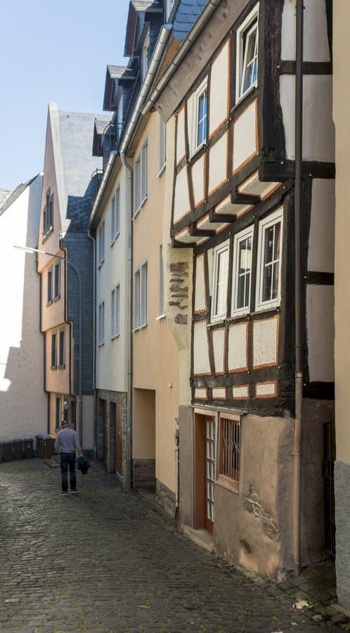 Street View av Cochem, Tyskland arkivfoto