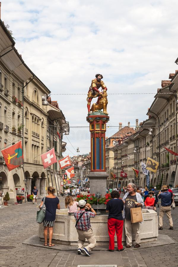 Street view in Bern city stock images