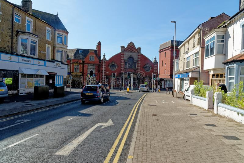 Street view in Blackpool - Lancashire - United Kingdom. Street view in Blackpool, Lancashire, England, United Kingdom. Photo taken on 19th of September 2019 stock image