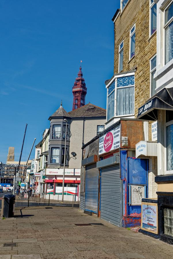 Street view in Blackpool - Lancashire - United Kingdom. Street view in Blackpool, Lancashire, England, United Kingdom. Photo taken on 19th of September 2019 stock images