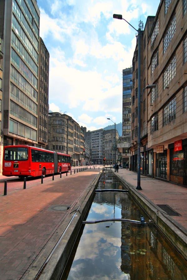 Street view in Bogota, Colombia stock photos