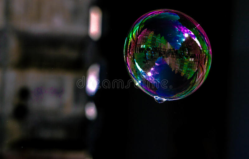 Street view in a bubble stock images