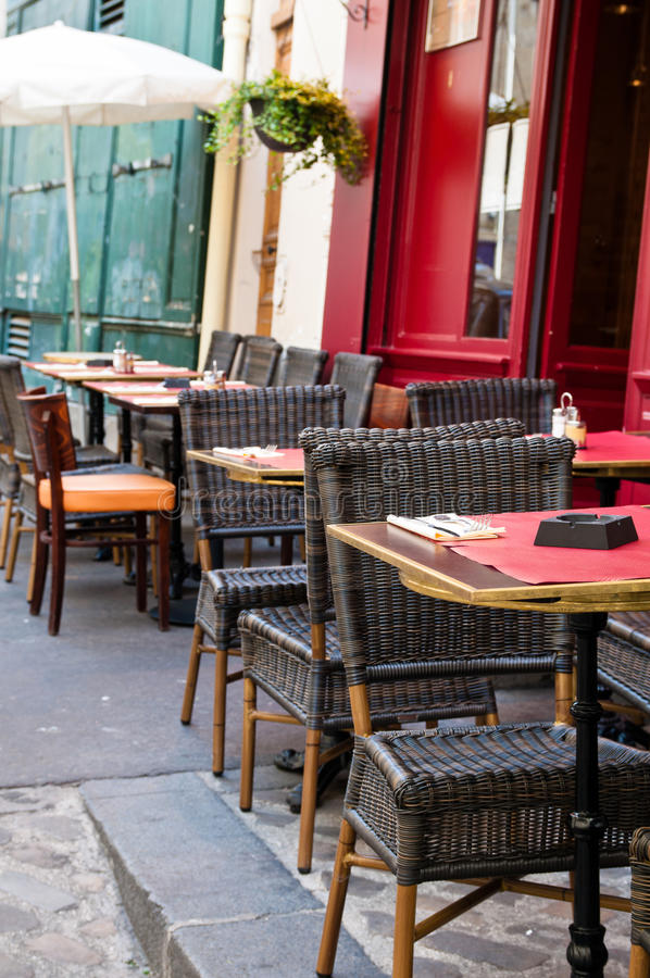 Street View Of A Cafe Terrace Stock Photos