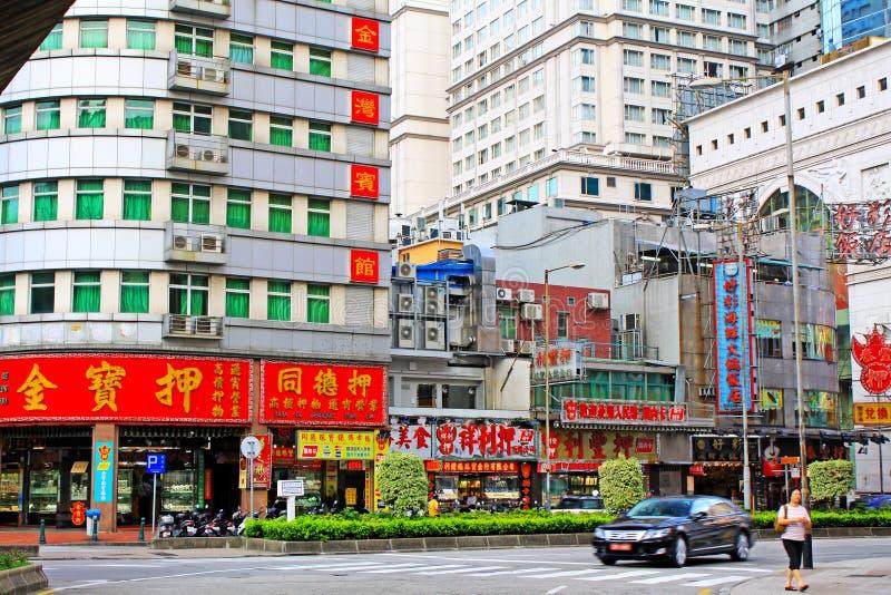 Macau Street View, Macau, China royalty free stock photography