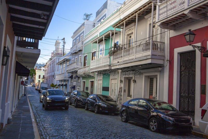 Street View de vieux San Juan, Puerto Rico photographie stock libre de droits