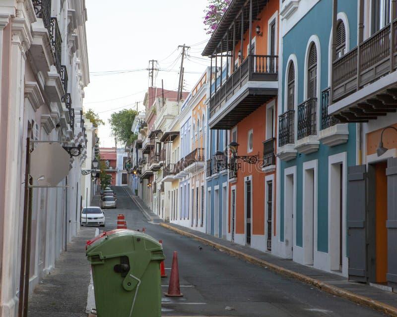 Street View de vieux San Juan, Puerto Rico images stock