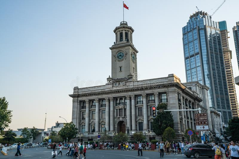 Street view of former Hankou customs house Jianghan historical b stock photography
