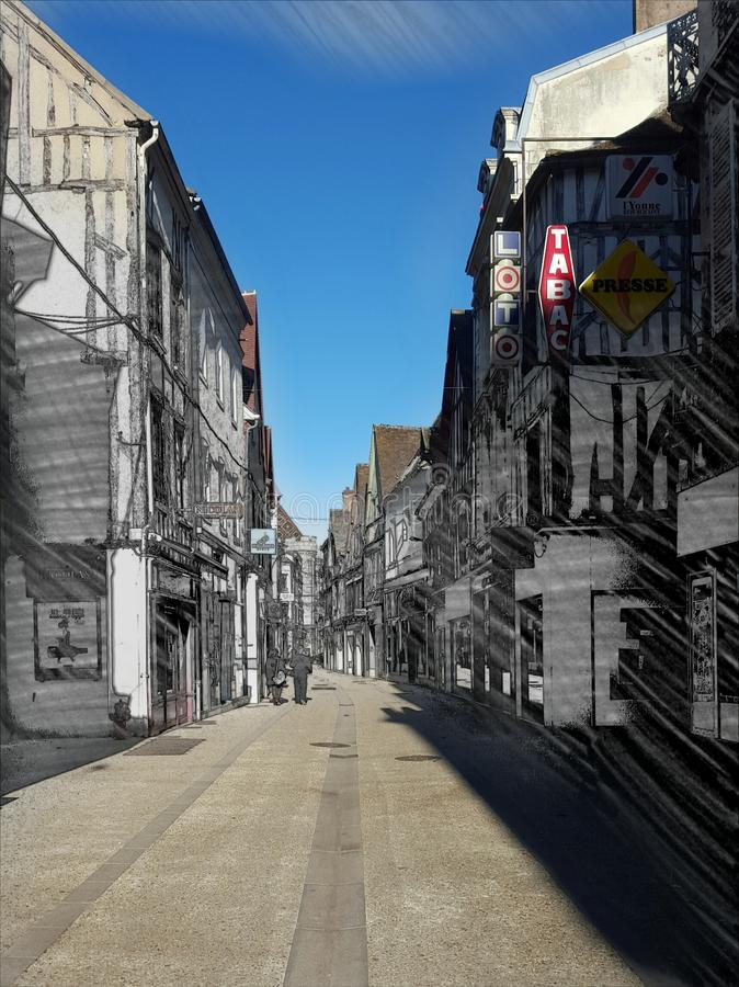 Street View in France royalty free stock photography