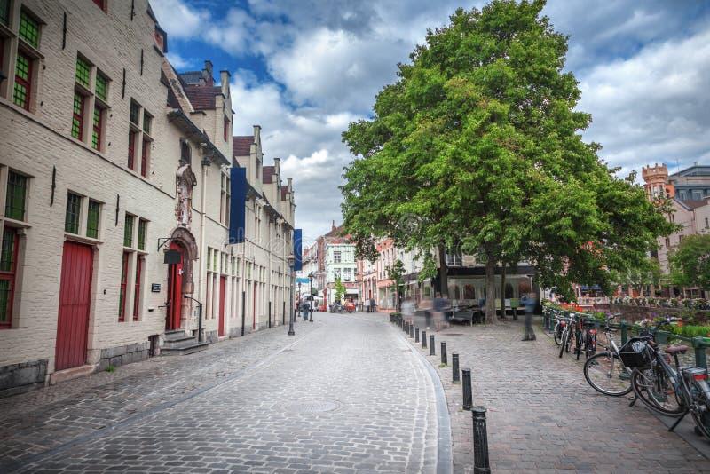 Street of Gent, Belgium. Street view of Gent, Belgium stock images