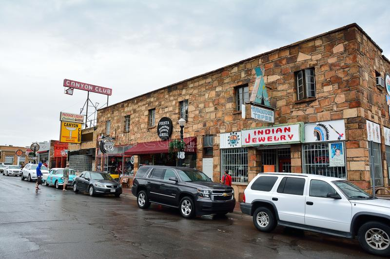 Street view in historic town of Williams, Arizona. royalty free stock photo