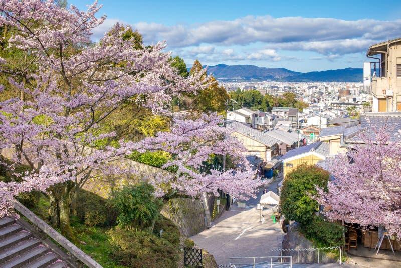 Street view of kyoto city stock photo
