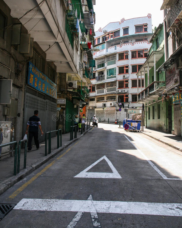 Download The street view in macao editorial image. Image of architecture - 41865740