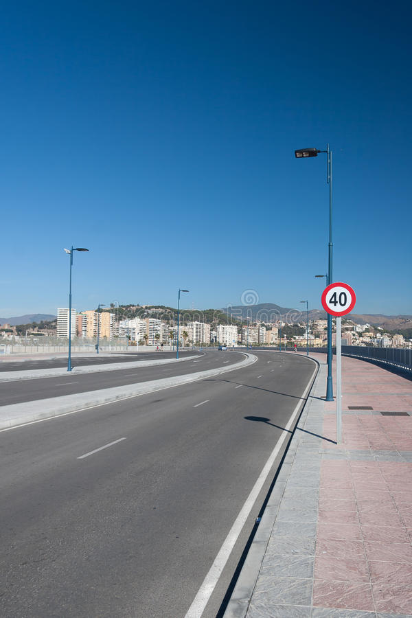 Download Street view of Malaga stock photo. Image of andalusia - 43242848