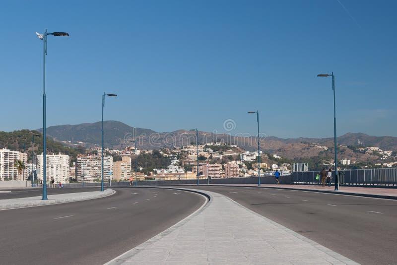 Street View Of Malaga Stock Photo