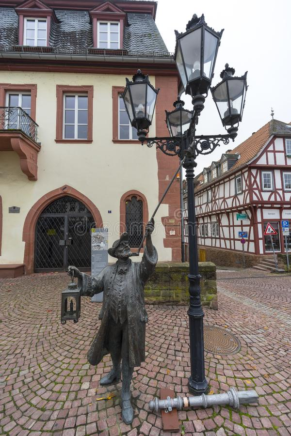 Street view of a medieval town Gelnhausen. royalty free stock images