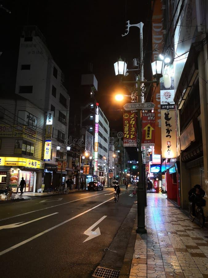 Street View Namba Japan royalty-vrije stock foto's