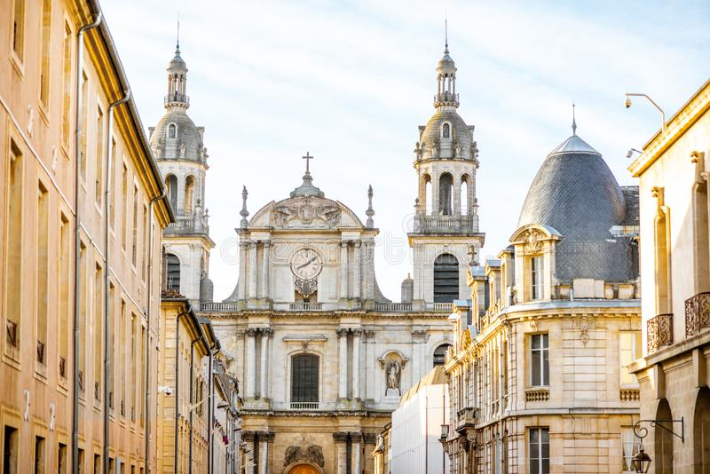 Street view in Nancy city, France stock photos