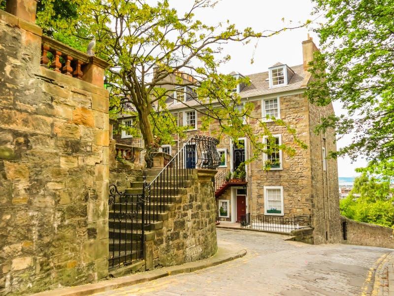 Street view of the Old Edinburgh, Scotland, UK royalty free stock photography