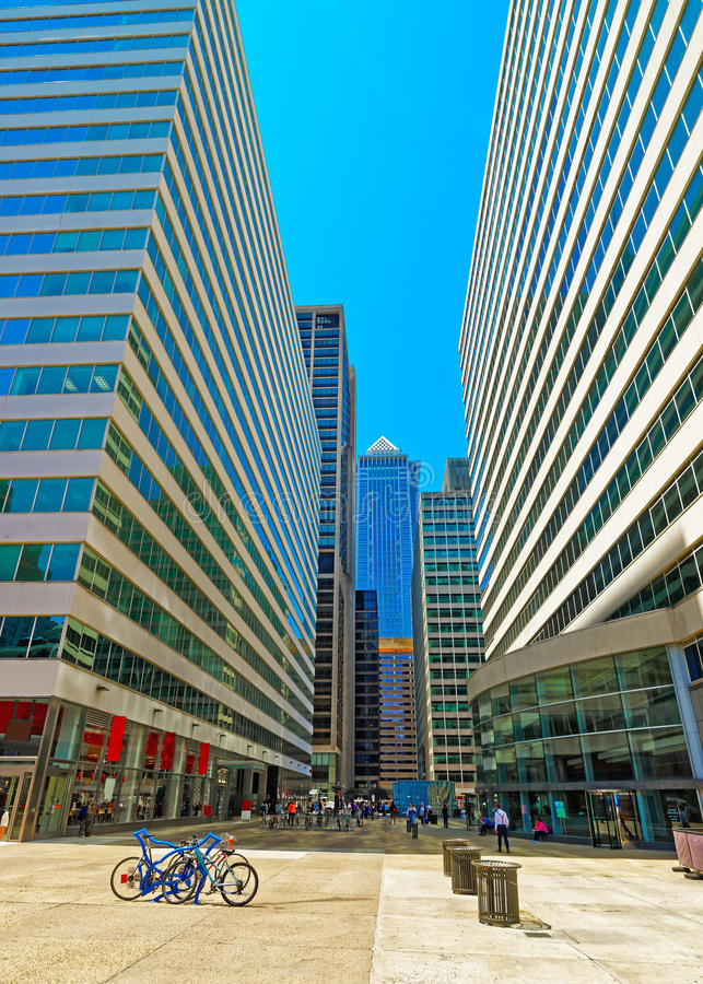 Street View On Penn Center And Skyline Of Skysers Stock Image ...