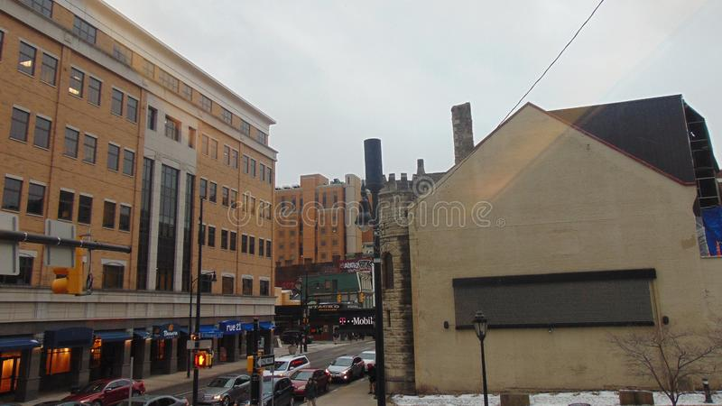 Street View: Pittsburgh Pennsylvania stock afbeelding