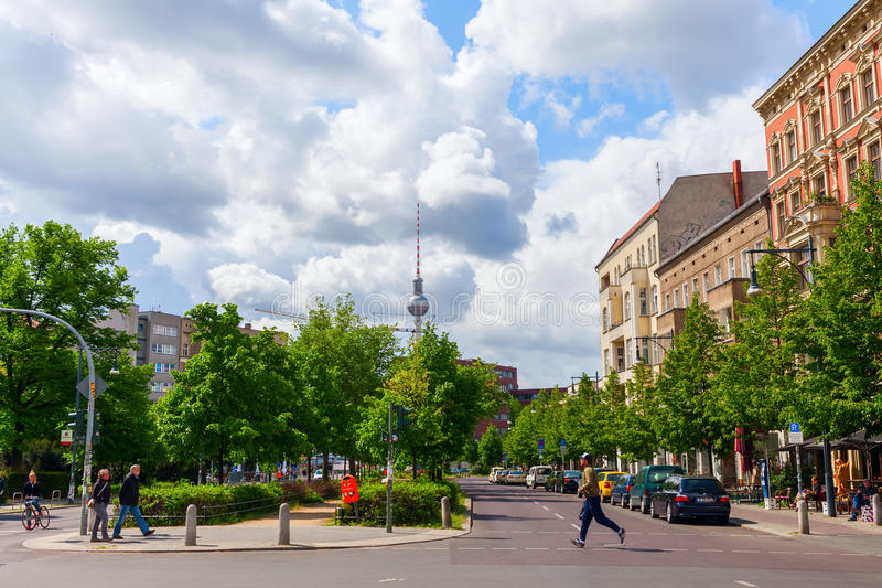 Street view in Prenzlauer Berg, Berlin stock image
