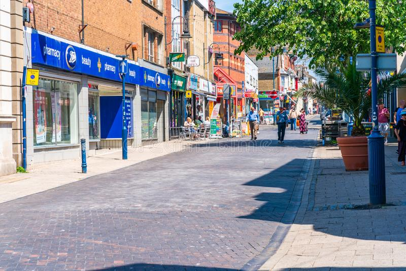 Street view in Ramsgate royalty free stock photo