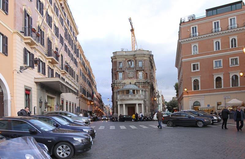 Street View Roma imagen de archivo libre de regalías