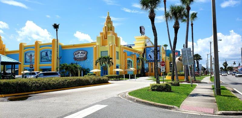 street view of Ron Jon Surf Shop stock photos