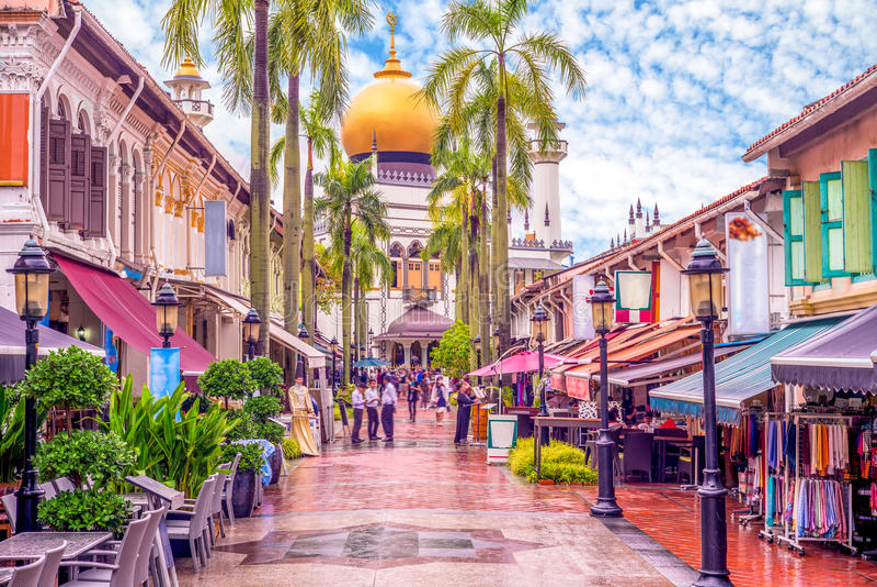 Street view of singapore royalty free stock photo