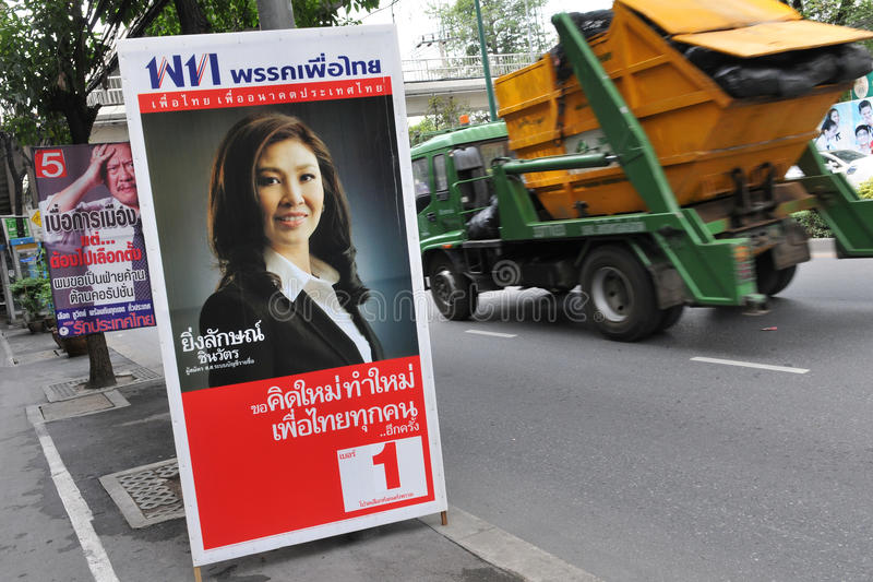 Download Street View With Thai Election Placard Editorial Stock Photo - Image: 25220578
