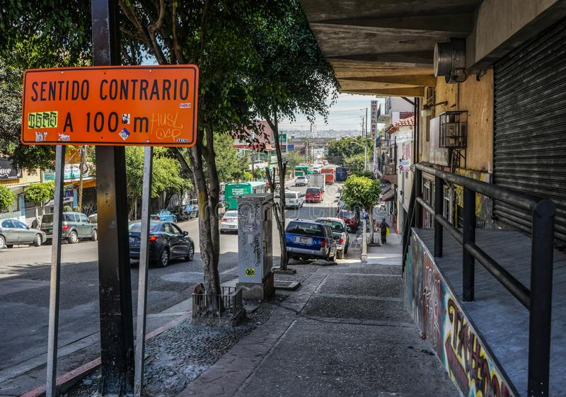 Street View, Tijuana, Mexico royalty free stock image